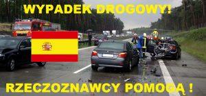 Wypadek drogowy Hiszpania